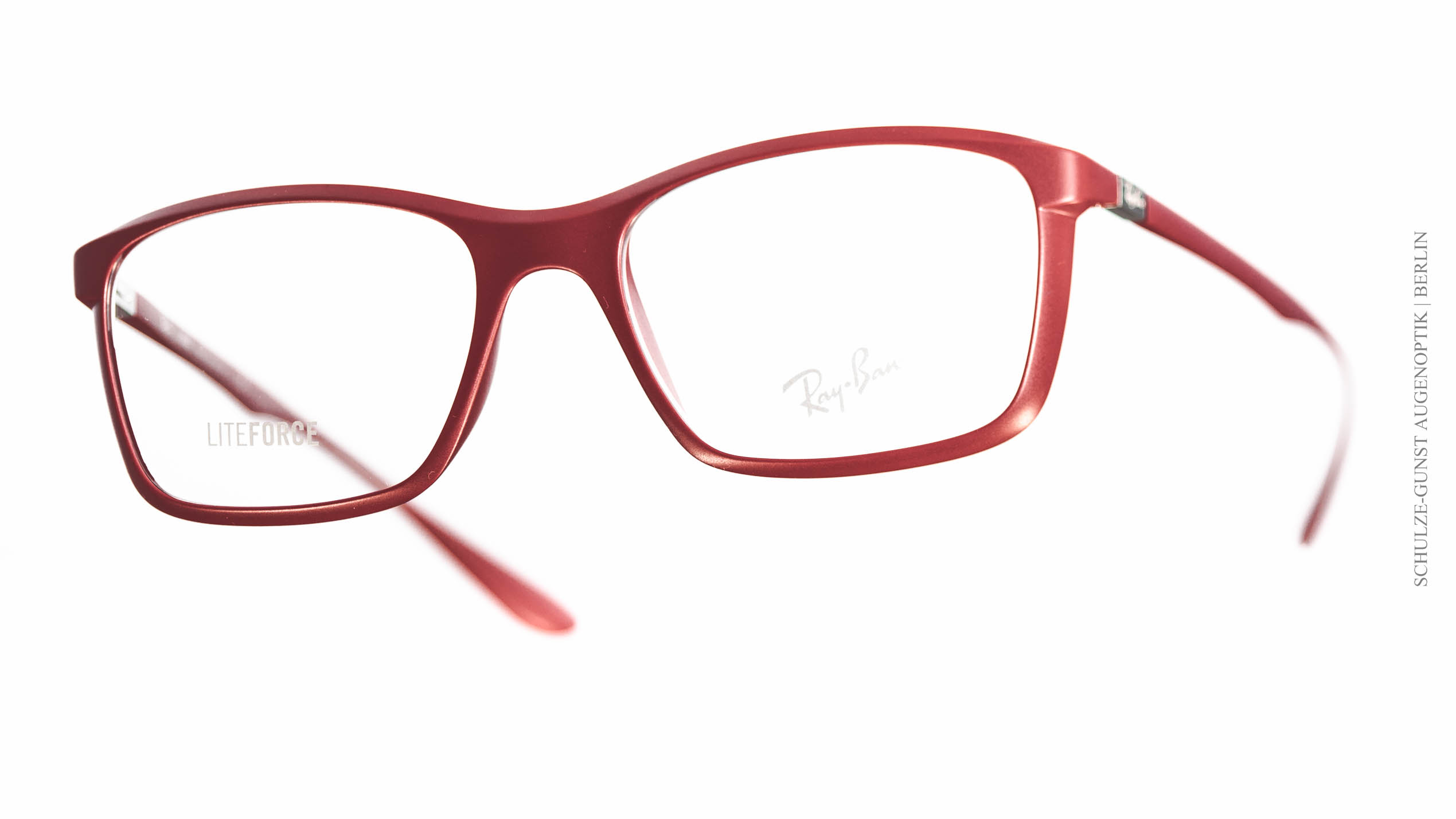 rote ray ban brille