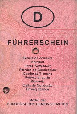 Sehtest für den Führerschein