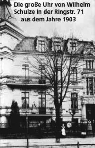 Die große Uhr von Wilhelm Schulze Ringstr. 71