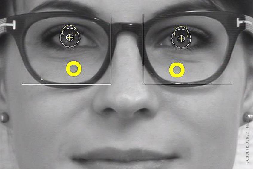 Zentrierkoordinaten: die Anpasspunkte auf zehntel Millimeter